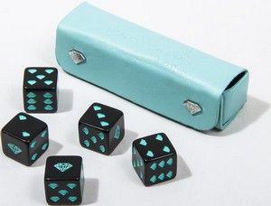 Diamond Supply Co. Diamond Skateboards Diamond 5 Die Dice Set Diamond Blue Black DICE SET
