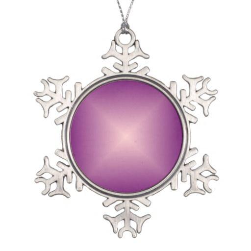 Purple Pink>Snowflake Ornament