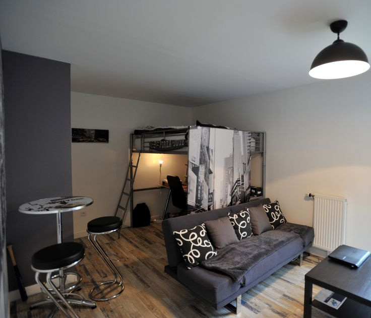 Chambre adolescent grise, sol pvc imitation parquet gerflor castorama, @secretsdeco
