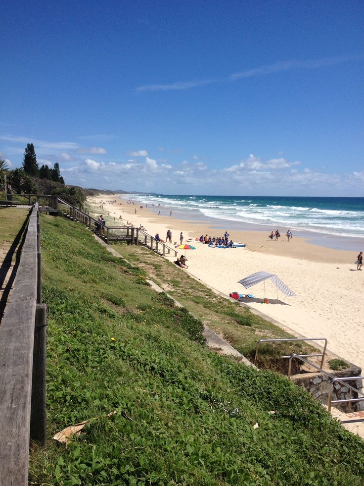 Beautiful Coolum Beach on the Sunshine Coast QLD