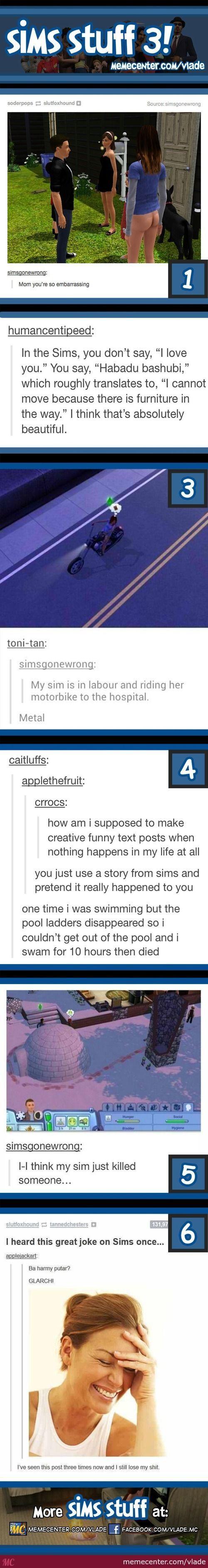 Tumblr on sims