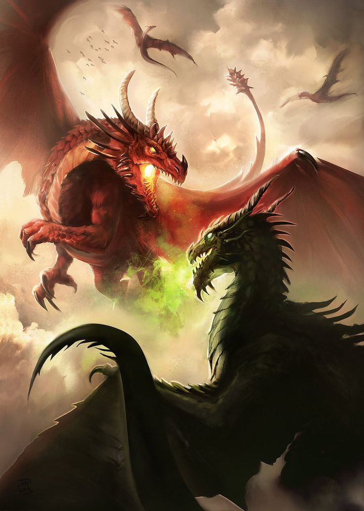 MZLowe verified link on 9/22/2017 Source: Oana-D.deviantART.com Artist: Oana Dascalu Title: Dragon fight Tags: Fantasy art, dragon