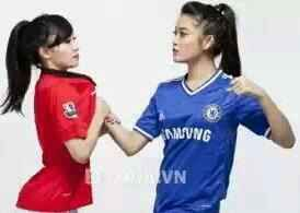 Lol... :D Chelsea Girl can beat Man utd Girl...