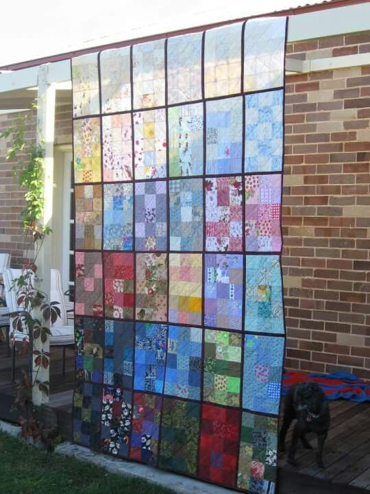 """""""Quilt as you go"""" quilt for David & Kathy"""