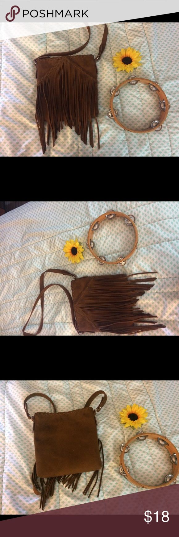 Express Faux Suede Fringe handbag This purse is such a cute compliment to any outfit. Perfect for a night out or a day in the city. In perfect condition. Bags Crossbody Bags