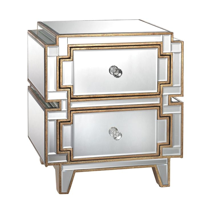 Cream,Gold,Silver,White,Glass,Metal,Wood,Contemporary,Glam,Transitional Nightstands: Complete your bedroom with nightstands and bedside tables that offer a convenient perch for a lamp, alarm clock and reading material. Free Shipping on orders over $45!
