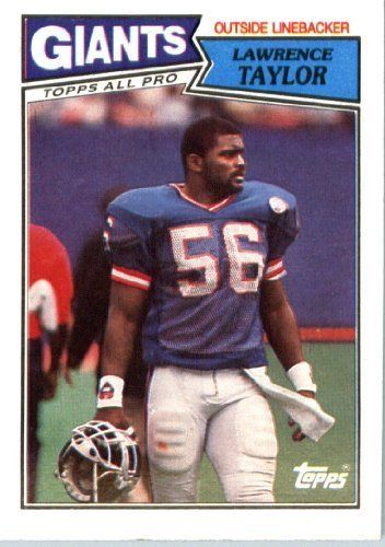 1987 Topps # 26 Lawrence Taylor New York Giants Football Card- Near Mint to Mint Condition - In Protective Screwdown Display Case! by Topps. $2.88. 1987 Topps # 26 Lawrence Taylor New York GiantsFootball Card- Near Mint to Mint Condition - In Protective Screwdown Display Case!
