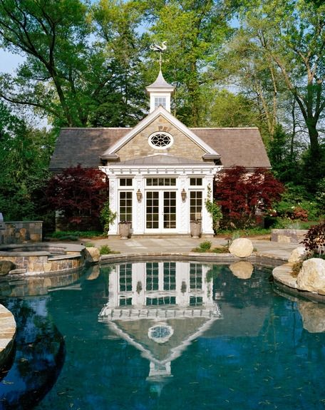 Why Get Your Hair Wet?; Twelve Spectacular Pool Houses   Luxury Homes