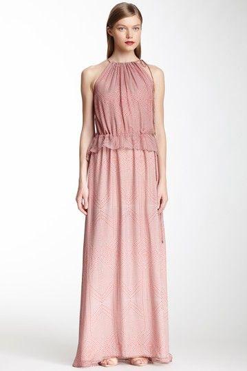 Drawstring Silk Maxi Dress on HauteLook