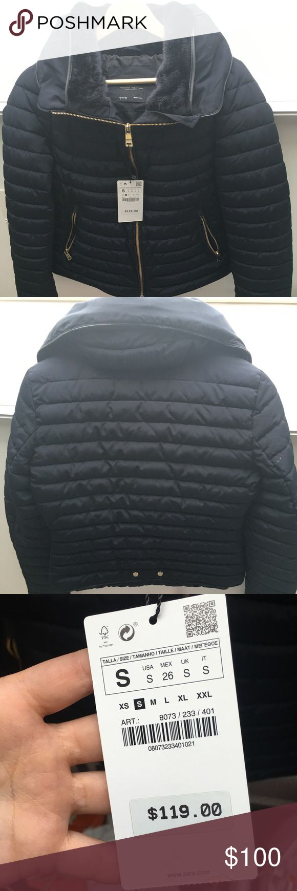 Zara Basic Jacket BRAND NEW Navy Blue Zara Jacket! Zara Jackets & Coats Puffers