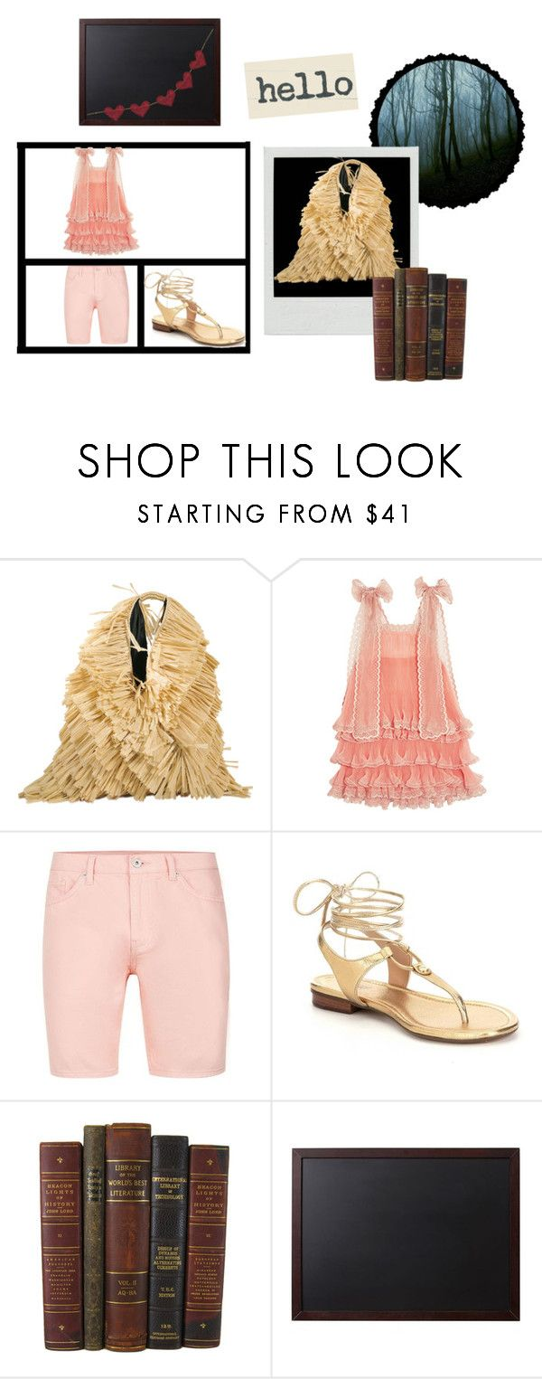 """""""STRAW JAPANESE BAG"""" by michelle858 ❤ liked on Polyvore featuring MM6 Maison Margiela, Chloé, Topman and Pottery Barn"""