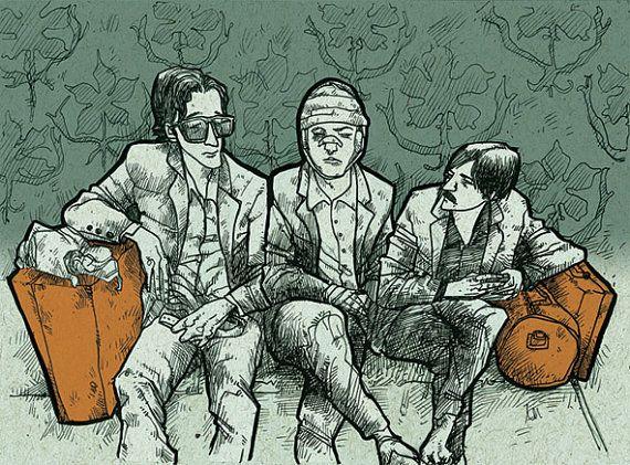 Darjeeling brothers by suPmon, EtsyArt Illustrations, Ink Illustrations, Design Illustrationer Prints, Illustration Drawing