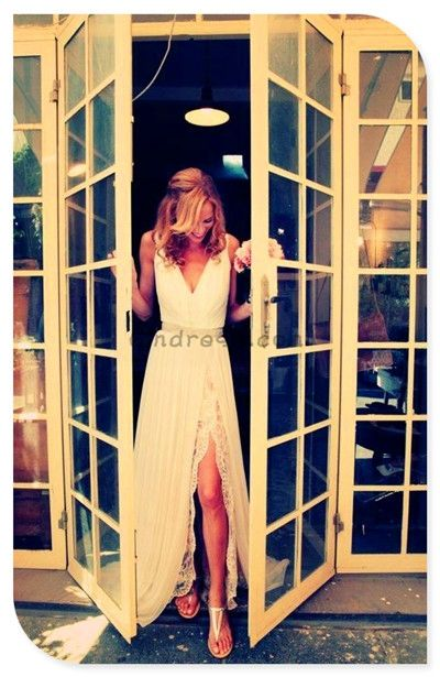 OMG I love this dress so much for a Beach wedding or a Back yard Wedding!!