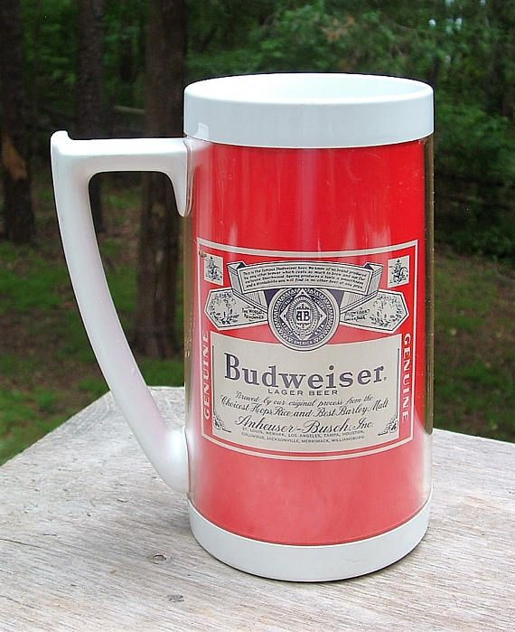 ZERO SHIPPING Vintage Budweiser Lager Beer Thermo-Serv by