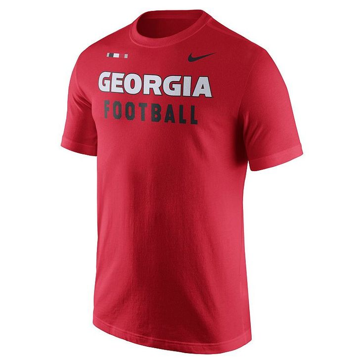 Men's Nike Georgia Bulldogs Football Facility Tee, Red