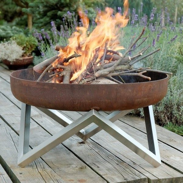 Scandinavian fire bowl