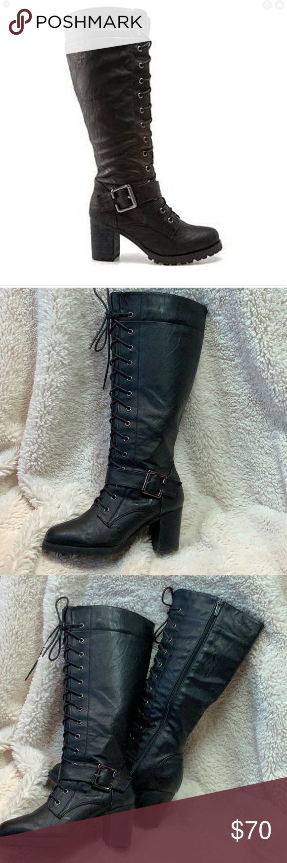 Wanted Pillar KneeHigh Faux Leather Boots in 2020 Faux