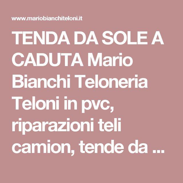 TENDA DA SOLE A CADUTA Mario Bianchi Teloneria Teloni in pvc, riparazioni teli camion, tende da sole, tende a bracci, tende a caduta, tende a rullo,tende doppia spiovenza, pergotende, gazebo