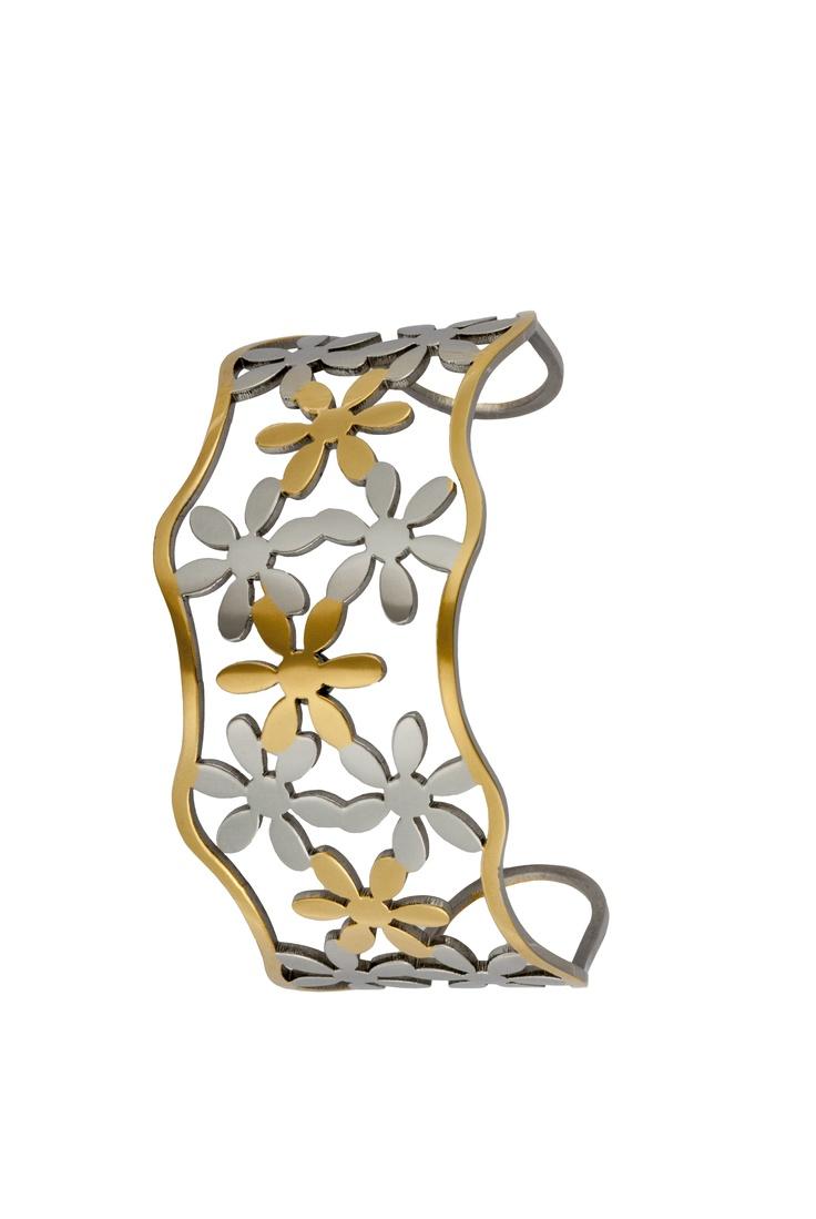 #TuPulseraRoselin de flores y acero chapado. 29€. http://www.roselin.es/noticias/?p=1625