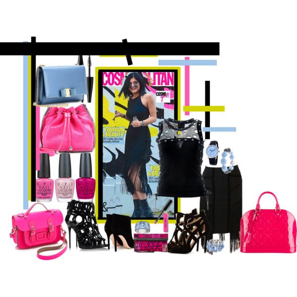"""""""Kylie Jenner Loves Black"""" by cutecurations on Polyvore"""