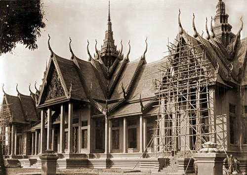 The Musée Albert Sarraut near completion in 1920. © National Museum of Cambodia  Street 13 National Museum of Cambodia: 1920  A masterpiece of colonial design incorporating Cambodian traditional references by French museologist-historian, George Groslier (1888-1945) built over three years between 1917-1920 and extended in the mid-1920s, the museum was originally named Musée Albert Sarraut after the then Governor-General of Indochina.