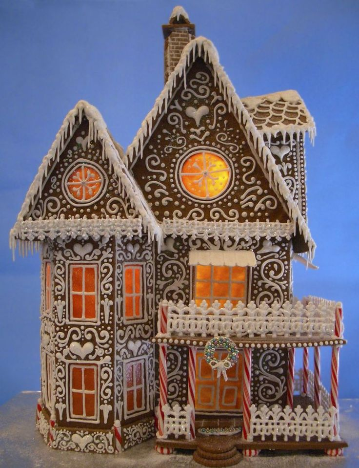 """My Gingerbread House 2013 - Winter Wonderland Stands 21"""" tall and over 15"""" wide."""
