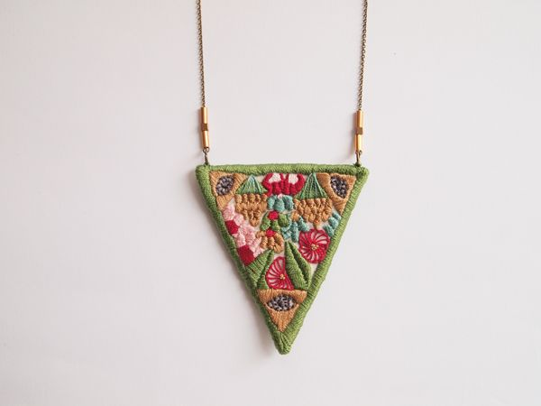 """""""mystic nature"""" embroidered necklace by Lana Pelana"""