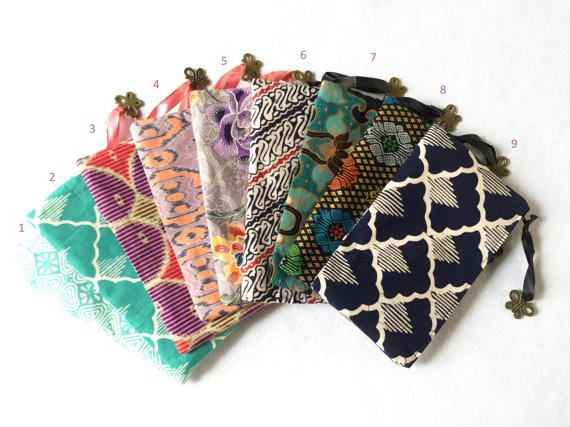 Batik Zipper Pouches