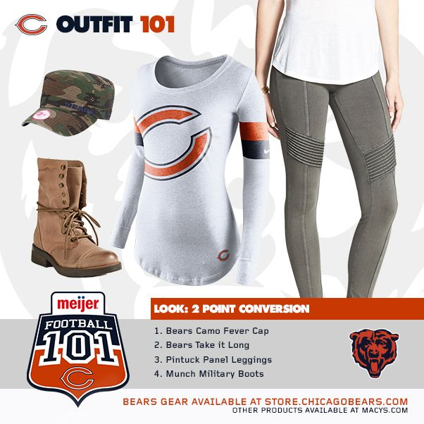 Get the 2 Point Conversion Look for Bears Football 101 on Monday, October 6th. Football 101 is an event at the United Club at Soldier Field where you can learn about the game of football and find out about the lives of your favorite Chicago Bears players.