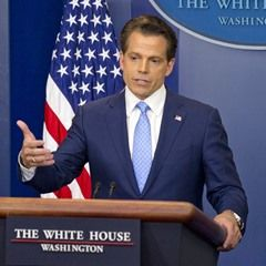 Incoming White House communications director Anthony Scaramucci attends his first press briefing