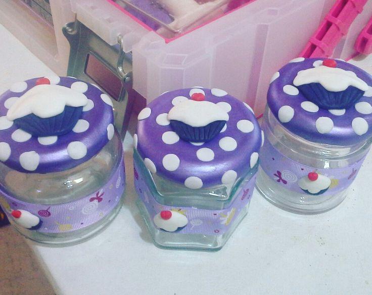 Frascos cupcakes