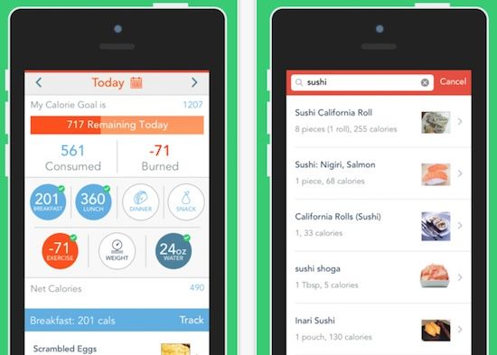 a review of the MyPlate calorie and food tracker app by Livestrong
