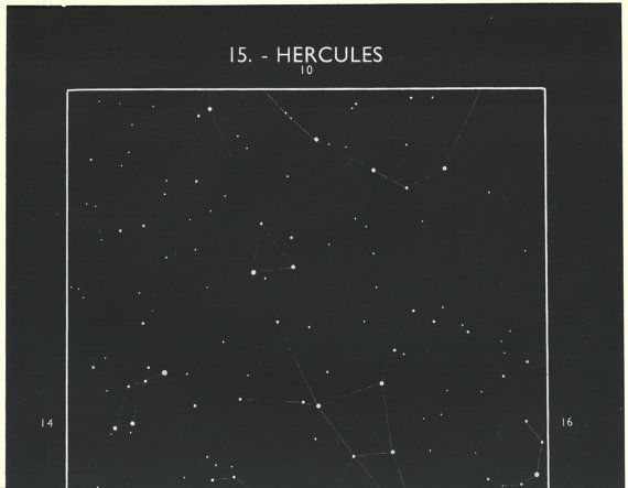 1950's Hercules Constellation Original Vintage Star by oddlyends