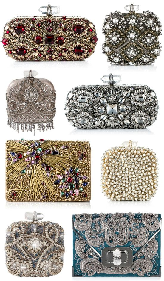 Marchesa Evening Bags, even just one of these would be necessary for a nice dinner; won't take up my space!