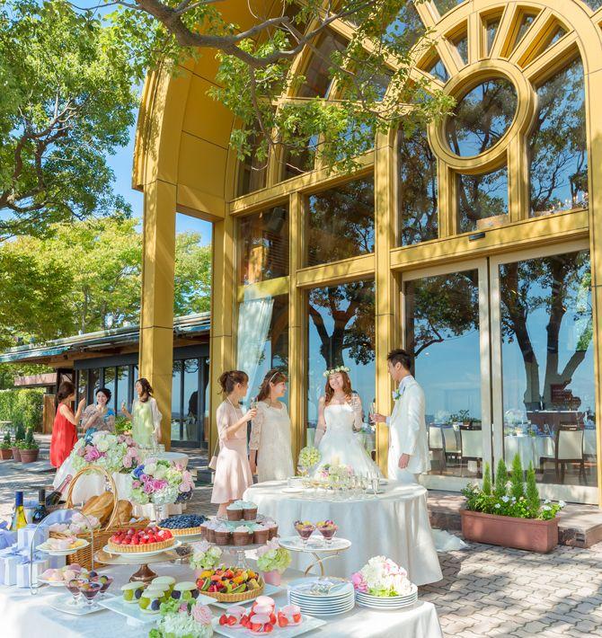 鹿児島県城山観光ホテルはガーデンテラスが気持ち良い〜♡ホテルでの結婚式一覧♡ウェディング・ブライダルの参考に♡