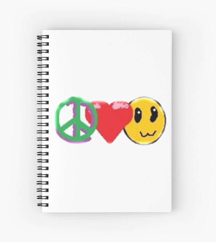 Great school notebook! Peace, Love and Happiness by KawaiiNMore