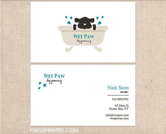 Dog groomer business cards Dog Groomin  Stuff Dog grooming