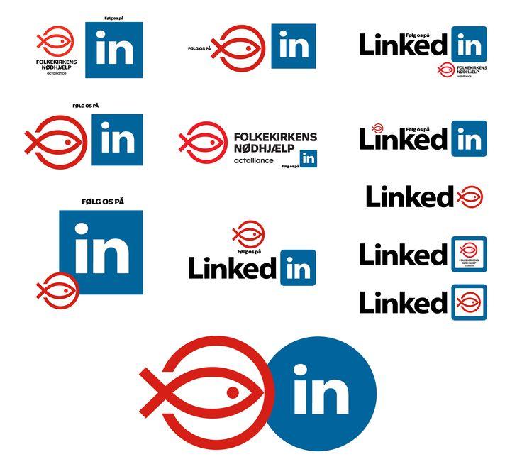 Da der skulle mere fokus på muligheden for at følge FKN på Linked In, lavede jeg nogle forslag til logo for dette. Da Facebook kun tillader 20% skrift, blev det det nederste.
