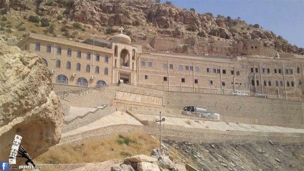 In Iraq a historic Christian library was saved from ISIS so far. Mar Mattai monastery or St. Matthew's monastery belongs to the Syriac Orthodox church, in the outskirts of Mosul, Iraq. (4/2015)