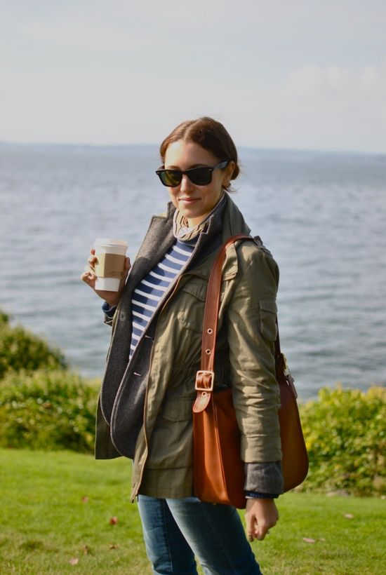 Coach and UK classic.: Jacket, Clothes, Style Inspiration, Outfit Inspiration, Bag, Style Pinboard, Casual Outfits, Stripes, Style Pill