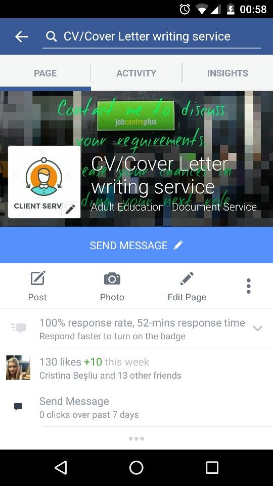 I offer CV and cover letter writing services to people who have - cover letter writing services
