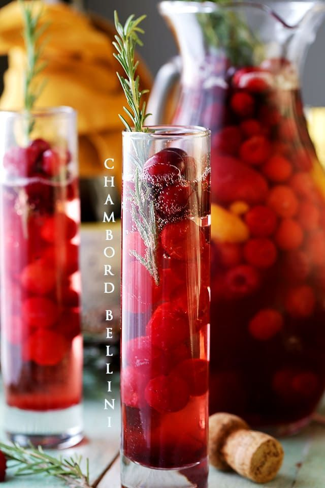 Chambord Bellini- A wonderful combination of Prosecco and Chambord Liqueur create this light, refreshing, delicious and bubbly elegant sipper.