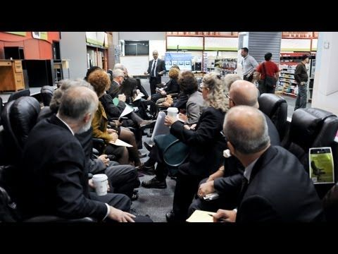 *Board Meeting in a Staples Store, A Prank by Improv Everywhere - http://www.youtube.com/watch?v=ao_iSk_YZPY=player_embedded