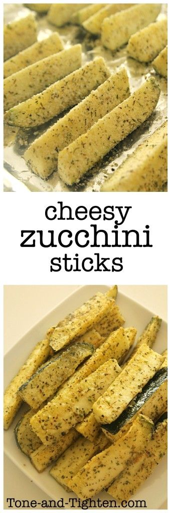 Cheesy Herb Zucchini Sticks from Tone-and-Tighten.com