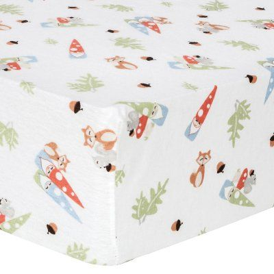 Trend Lab Forest Gnomes Deluxe Flannel Fitted Crib Sheet - 101246