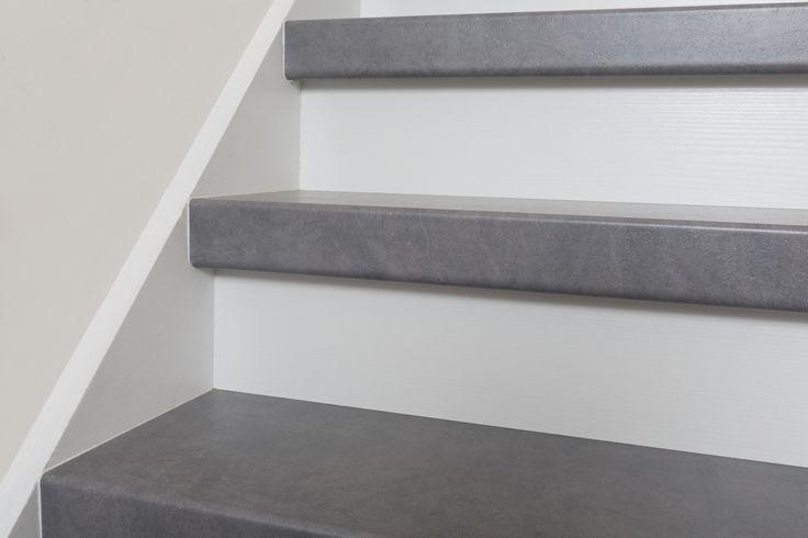Ook uw trap kunnen wij bekleden en omtoveren tot de prachtige industrial look. Bijvoorbeeld met een trap in kleur Stone Storm exclusief verkrijgbaar bij NEWstairs #Trendy #Exclusief #Prachtig #Trapbekleding