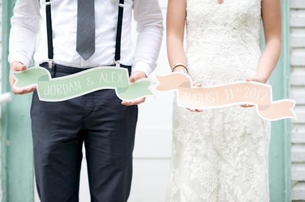 8 fotos novios divertida boda en mint y blanco