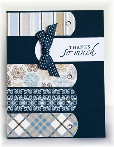 scrappin' and Stampin' in GJ -The card - just some pretty paper from Authentique with added sentiment.