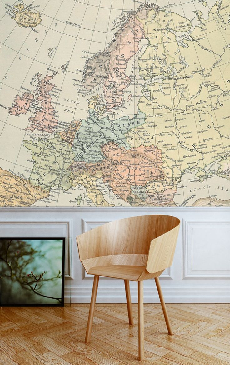 137 Best Interior World Maps Images On Pinterest Wall Maps