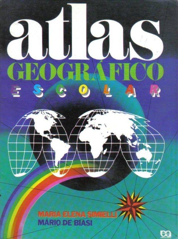 As crianças de hoje em dia jamais cobiçariam tanto um atlas geográfico como você cobiçou. | 21 materiais escolares que faziam a sua versão criança pirar a cabeça
